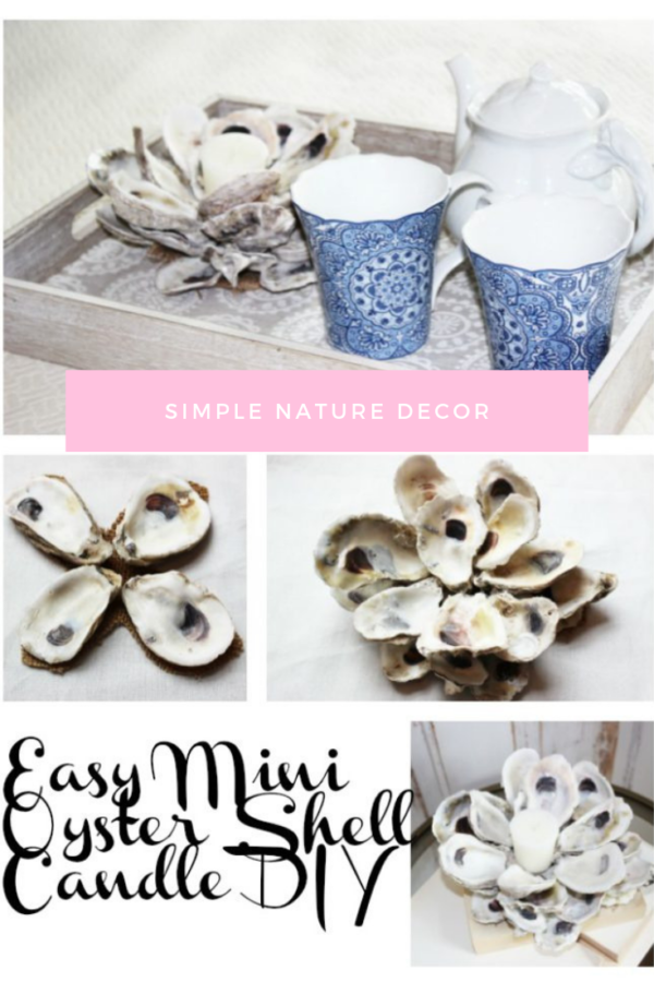 Mini Oyster Shell Candle Holder