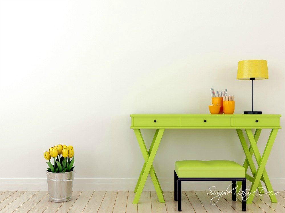 Green Writing Table
