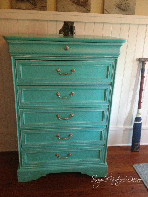 caribbean inspired turquoise chest
