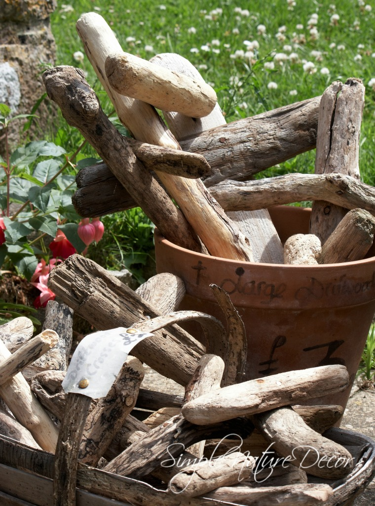 basket of drift wood