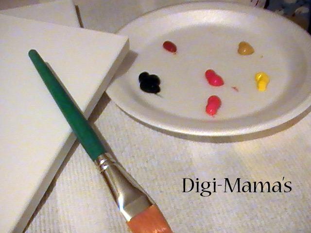 digi mama tree painting