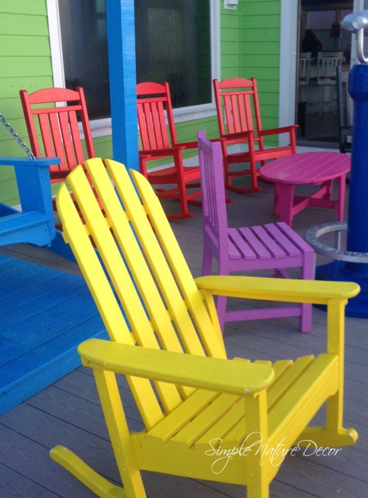 simple colorful beach chairs