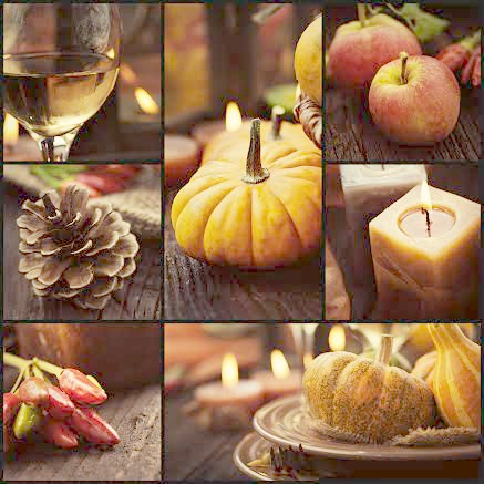 thanksgiving candles and pumpkin ideas