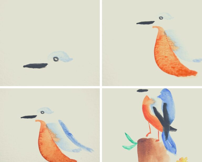 How To Paint A Bird With Watercolor in 7 Easy Steps