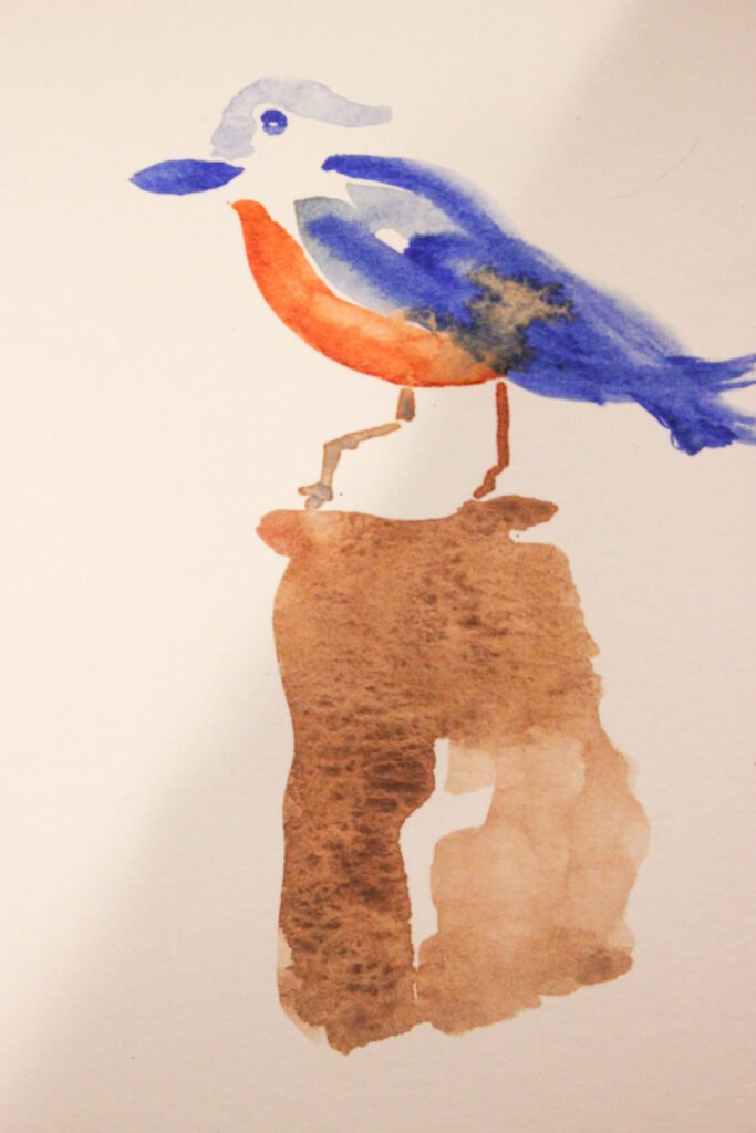 Painting a bird: How To Paint A Bird With Watercolor in 7 Easy Steps
