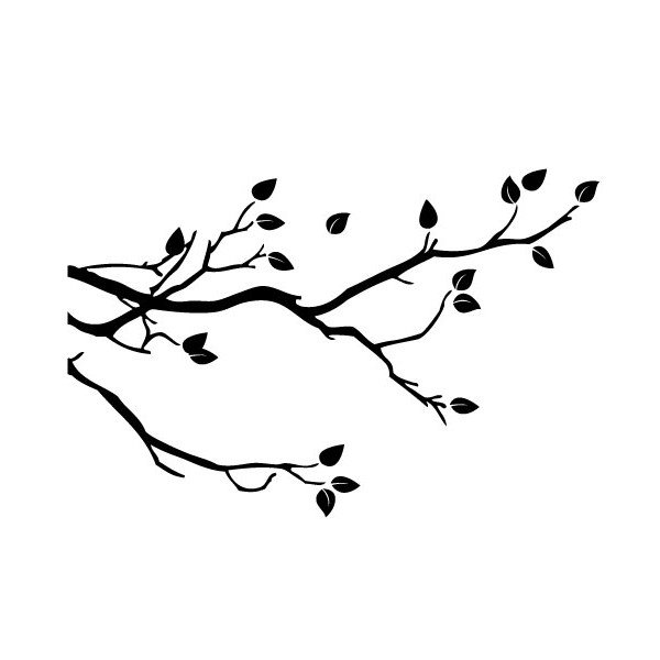 branch stencil for simple nature decor