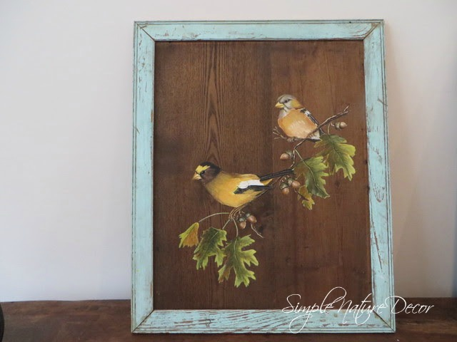close up of vintage bird painting