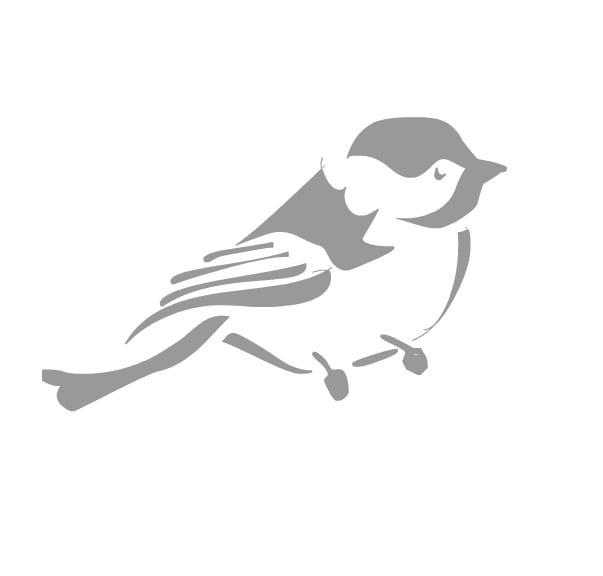 free bird stencil 2
