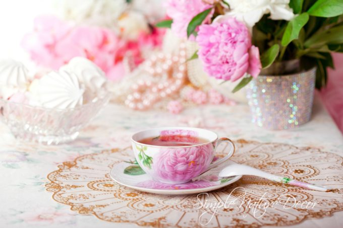 vintage tea parties and flowers