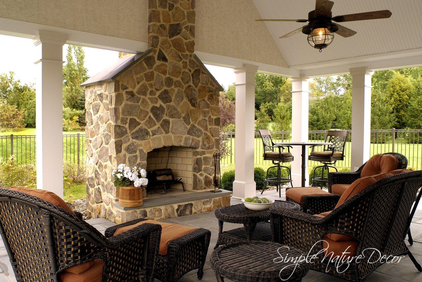 Simple nature decor - Covered outdoor living spaces ...
