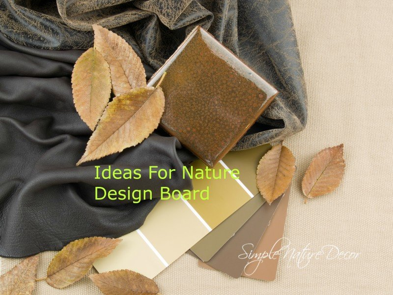 earthy design plan swatches
