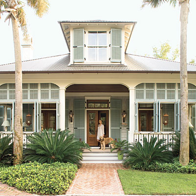 Simple nature decor for Coastal living exterior paint colors