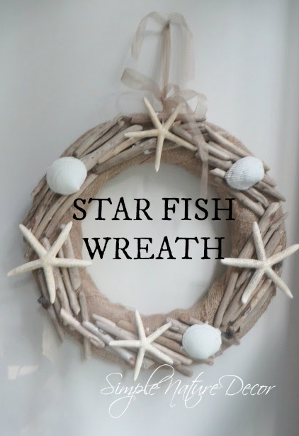 Star Fish wreath for simple nature decor