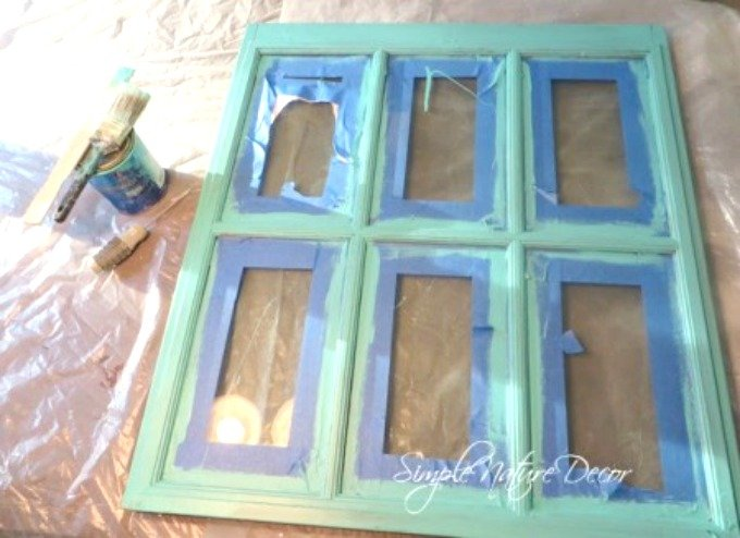 how to transform a window into a chalkboard sign (painting process)