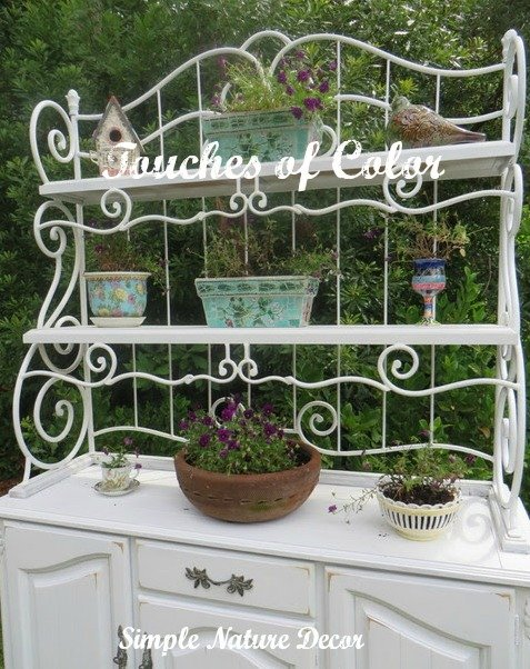 Adding color to the garden hutch