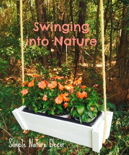 garden swing planter