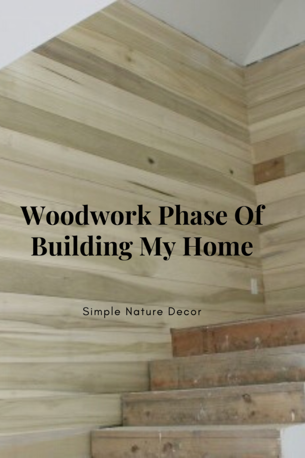 woodwork phase of Building My Dream Home In The Community Of Palmetto Bluff