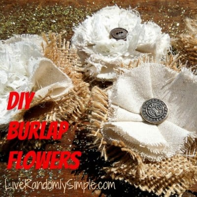 rusty burlap flower