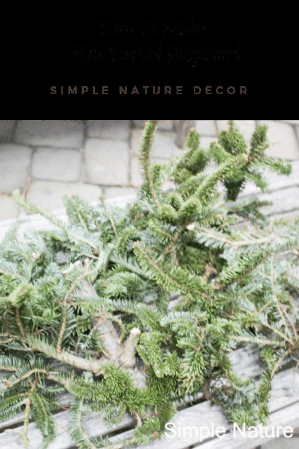 How To Make Fresh Scented  Pine Needle Potpourri
