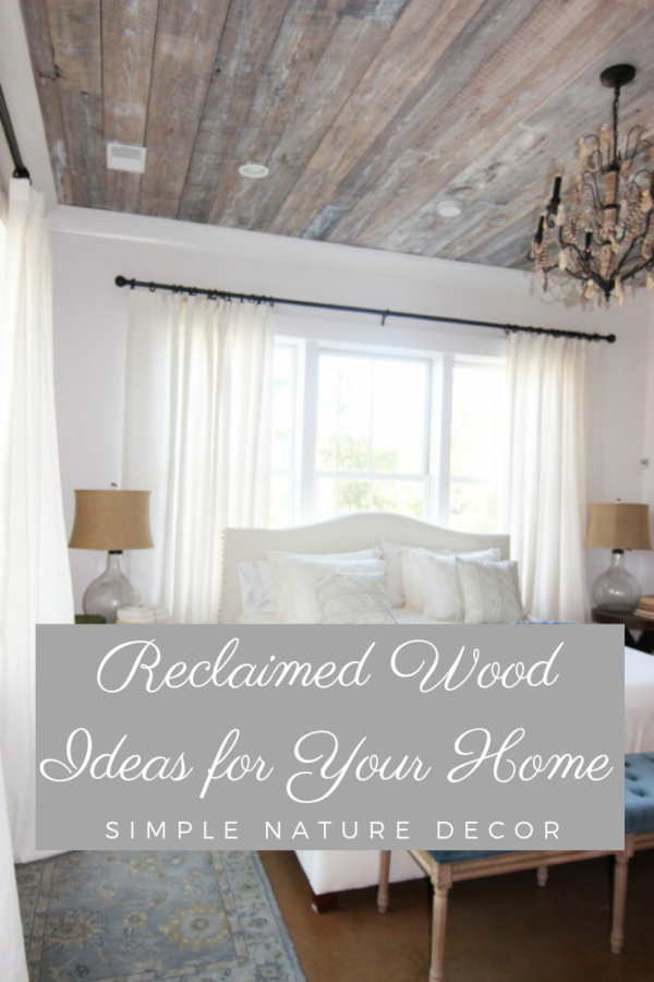 barn wood on ceiling Reclaimed Wood Ideas That Will Add Charm To Your Home