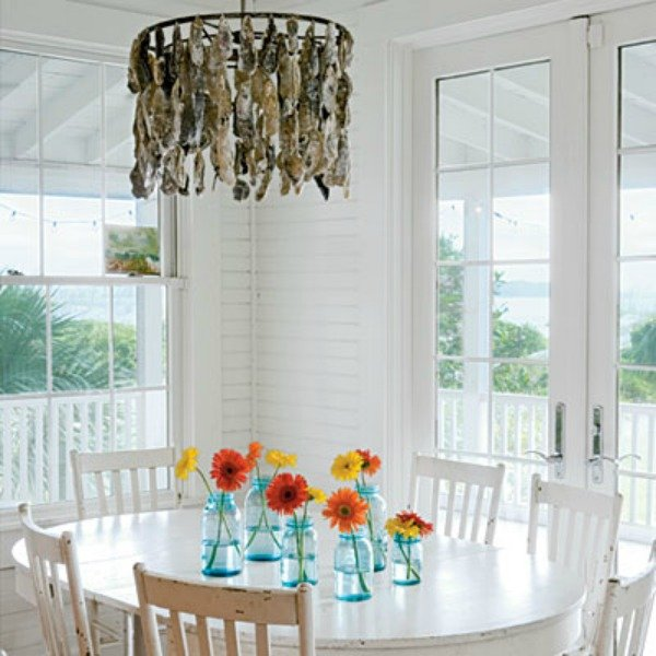 oak shell may oyster studio tattered river portfolio chandelier