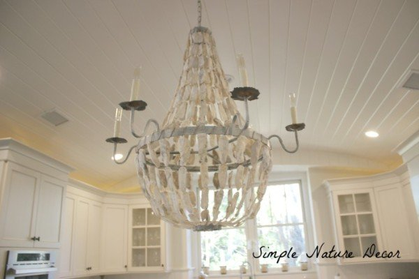 dreamy oyster shell chandelier