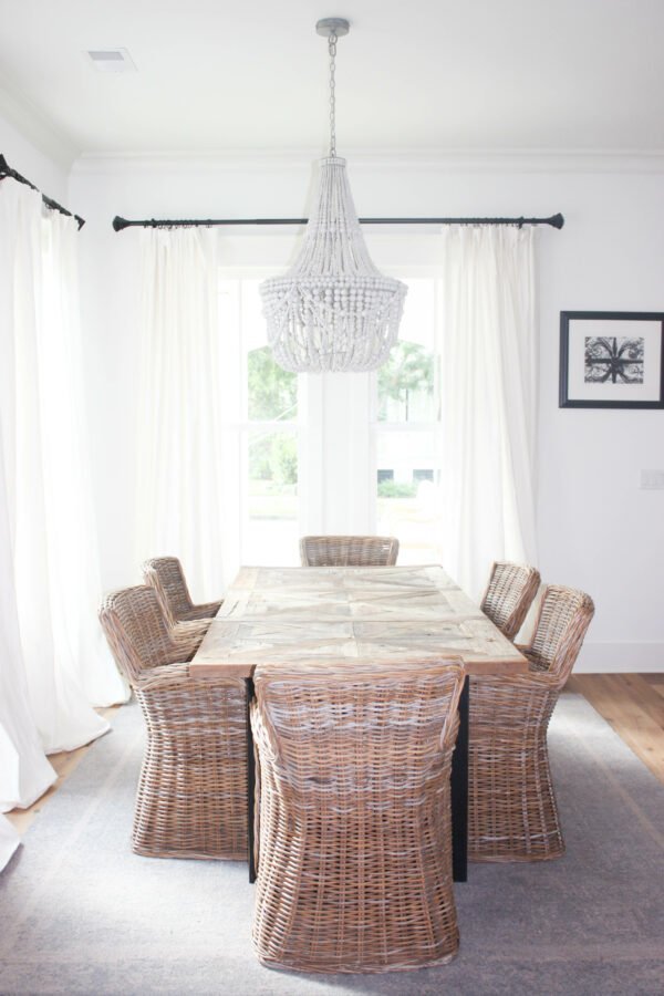 create a statement with lighting fixtures in the dining room
