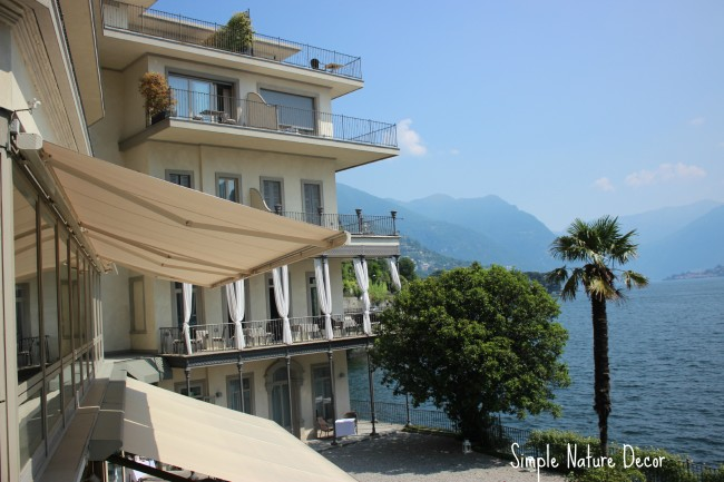 hotel over loooking lake como