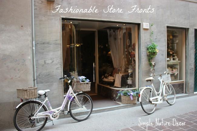 fashionable store front lake como