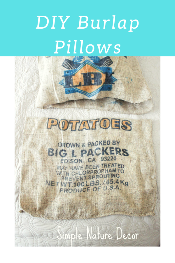 Easy Guide On How To Make Burlap Coffee Sack Pillow