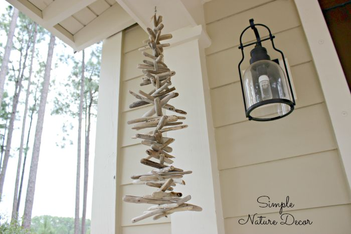 Driftwood Wind Chime Diy Simple Nature Decor