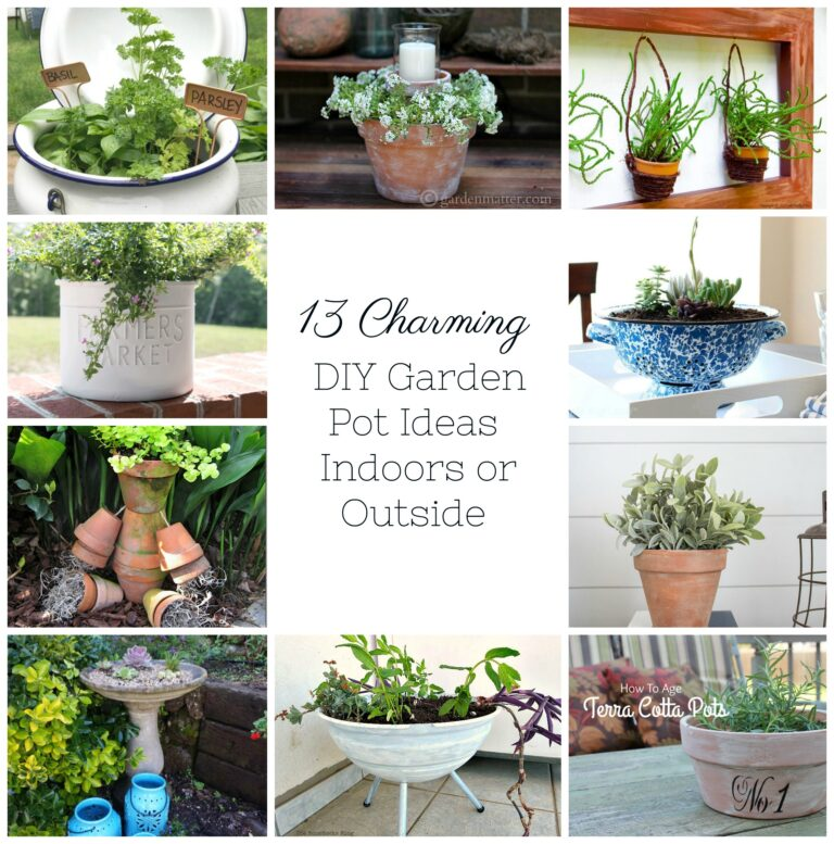 13 Charming DIY Garden Pots Ideas Indoors or Outside