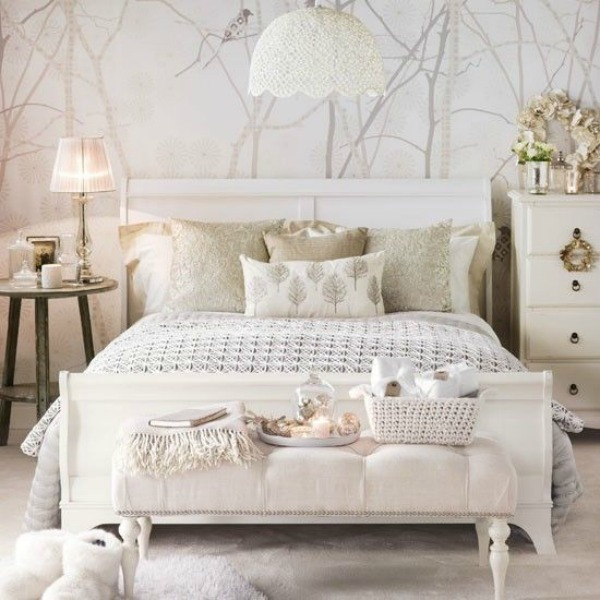 wall paper white