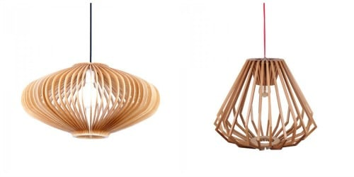contemporary wooden hanging chandelier