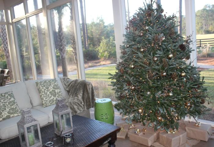 simple nature decor 2015 christmas tree