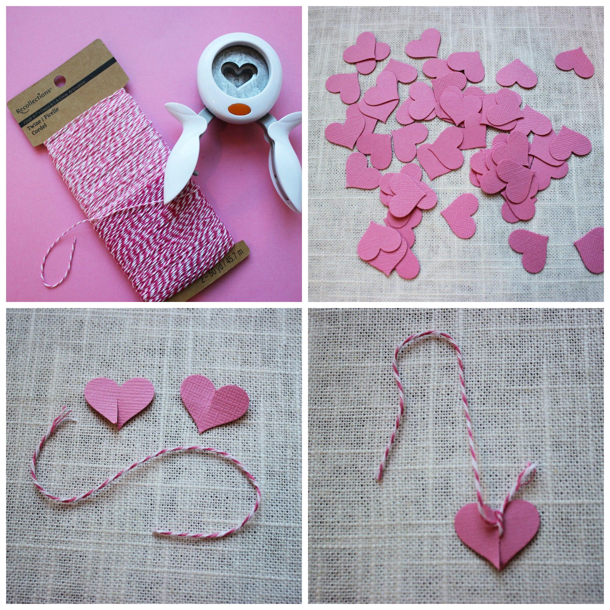 Supplies for VALENTINE'S HEART TREE DIY