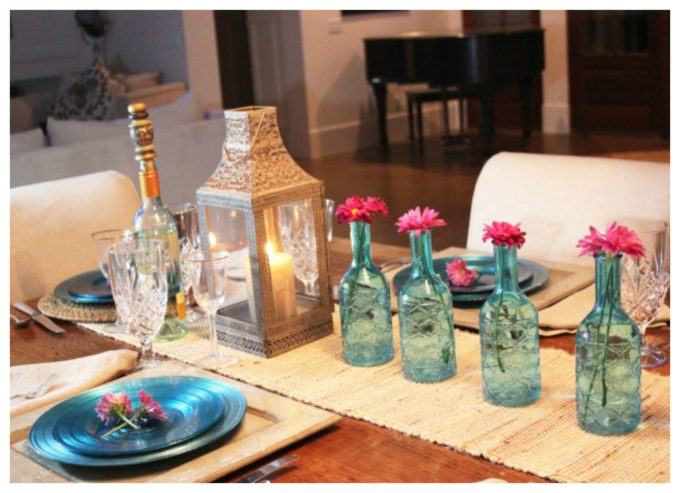 Turquoise dinner place setting ideas