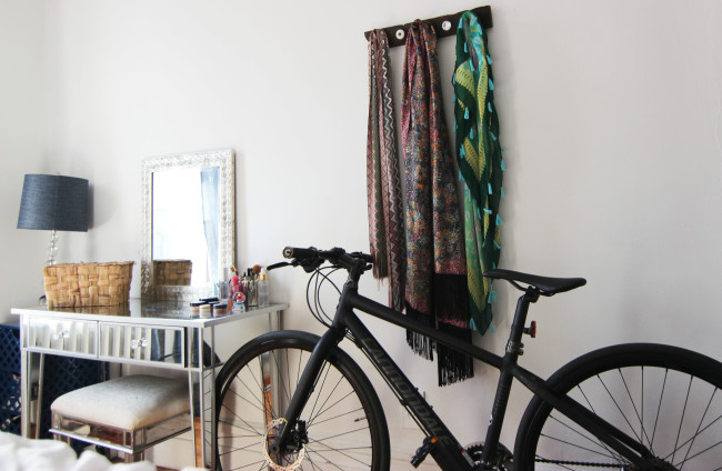 bike in boho inspired bedroom homeyou feature