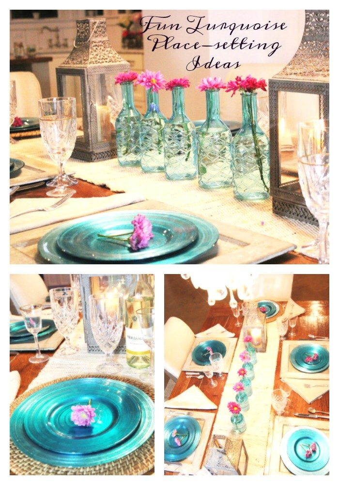 turquoise place setting pinterest  sc 1 st  Simple Nature Decor & Simple Nature Decor
