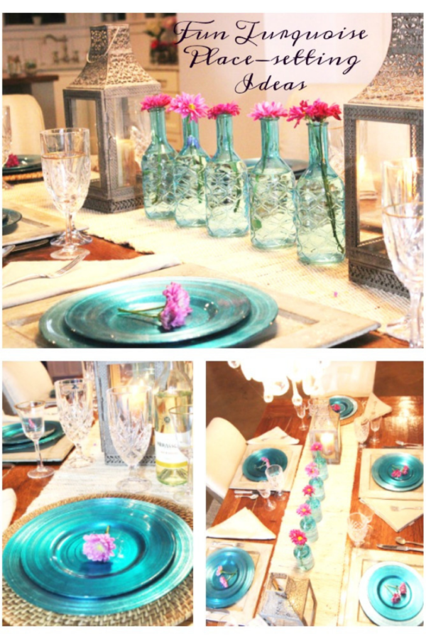 Turquoise table setting ideas