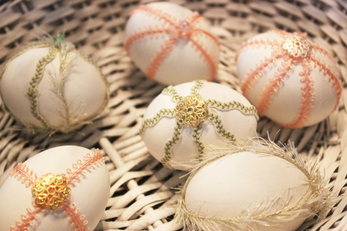 Decorating Eggs with Jewels