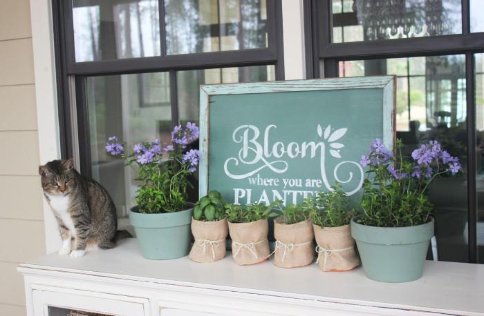 spring stencil challenge garden sign