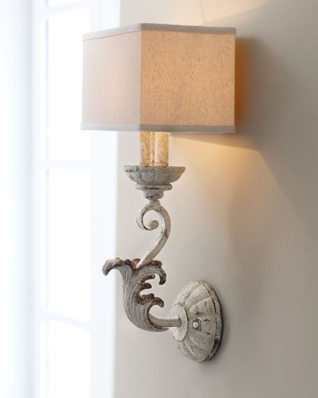 one room challenge week two horchow sconce