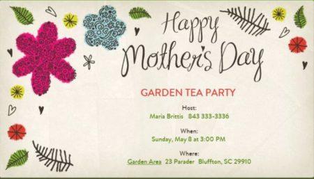 mothers day garden tea fete