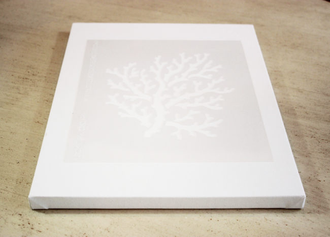 stencil on canvas on How To Easily Stencil A Coral On Canvas Perfect For Beach Decor