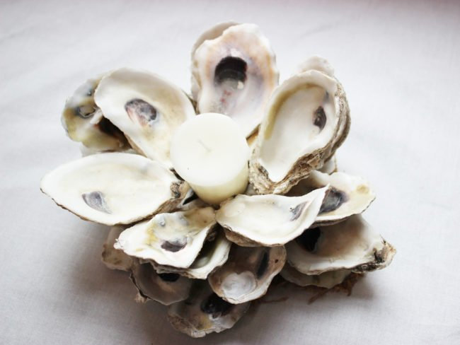 Creating Oyster Shell Candle Holder