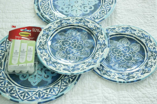 supplies for plates: Create a Mediterranean Wall With Decorative Plates.