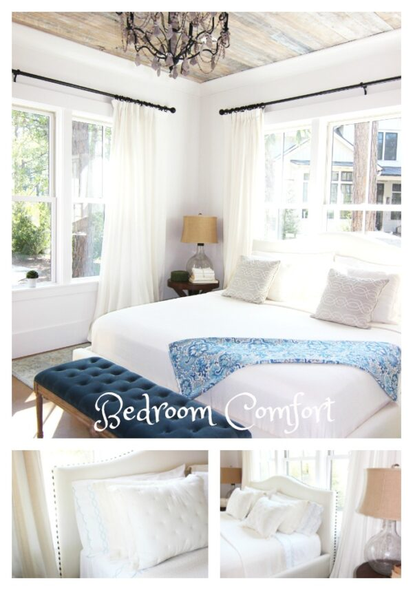 7 Ways to Refresh Your Home with Bright And Bold Home Decor Accents by adding a blue throw on bed