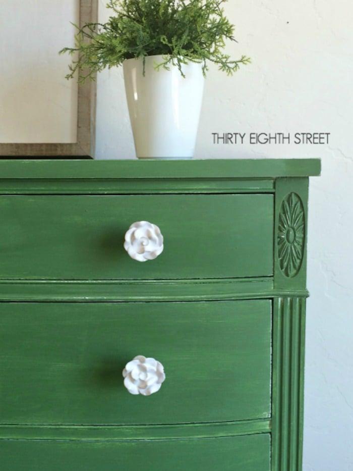 Tavern Green Milk Paint Dresser 1386-1