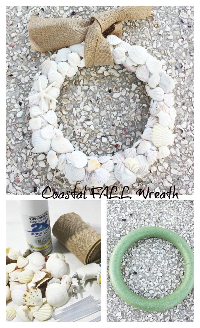 Coastal Shell Wreath